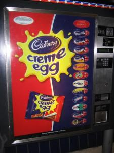 Laying Cadbury Cream Eggs all year long in a Tube station near you.